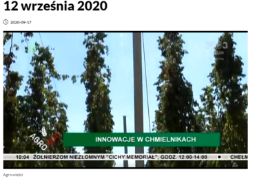 Materiał w TVP Lublin o Plantacji w Jastkowie